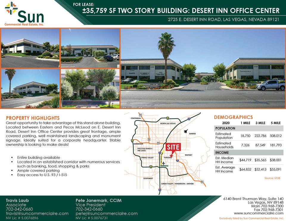 2725 E. Desert Inn Road, Las Vegas, 89121