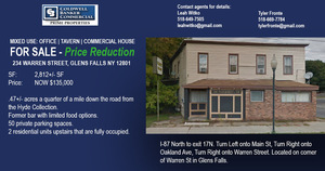 234 Warren Street, Glens Falls, NY, 12801